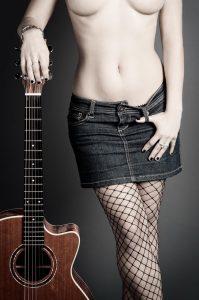 Girl, Guitar, Fashion, Beauty, People, Woman, Studio, Studioshooting, Fotoshooting