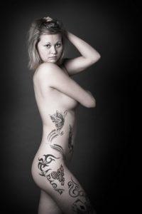 Tattoo, People, Woman, Akt, Studio
